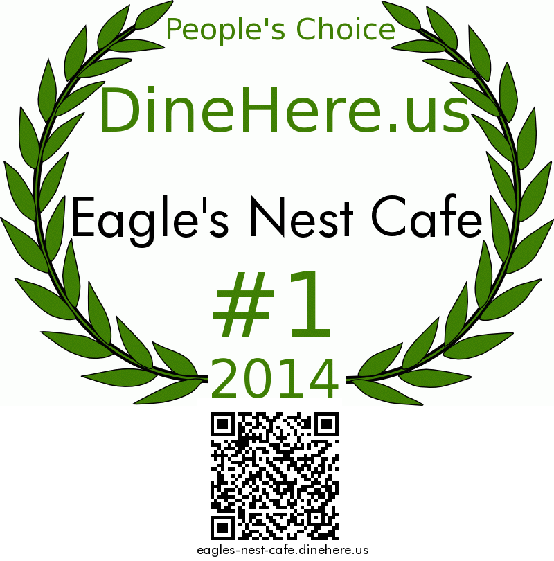 Eagle's Nest Cafe DineHere.us 2014 Award Winner