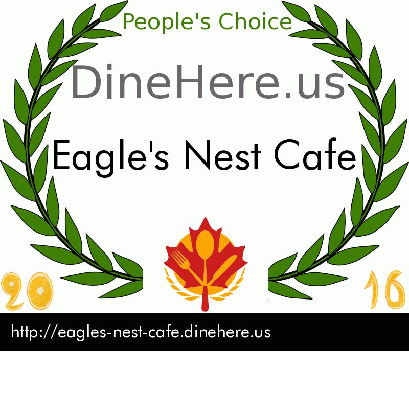 Eagle's Nest Cafe DineHere.us 2016 Award Winner